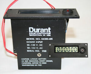 Durant Digital Counter 54000 401 54000401 with New 5 Year Lithium Battery