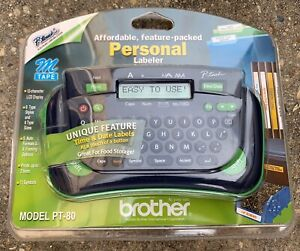 Brother P touch Personal Electronic Labeler Model Pt 80 New Factory Sealed Pt80