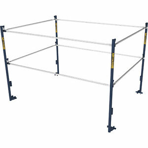 Metaltech M mg507k 5ft w X 7ft d Scaffold Guardrail System