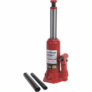 Strongway Hydraulic Bottle Jack 4 Ton Capacity 7 1 2in 14 5 8in Lift Range