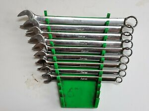Snap On Oex Series 9 Piece 12 Point Sae Combination Wrench Set With Wrench Rack