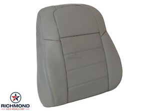 2009 Dodge Charger Se Rt Sxt Hemi driver Side Lean Back Leather Seat Cover Gray