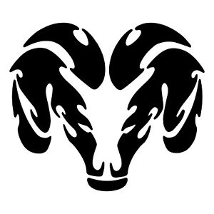 Vinyl Decal Ram Head Sticker Car Window Bumper Truck Hood Wall