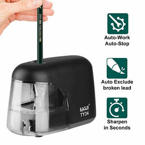 Electric Pencil Sharpener Battery Operated Automatic Sharpening Student School