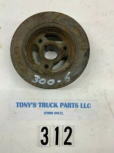 Ford 300 6 Engine Harmonic Balancer 3 Groove Oem