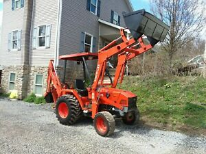 Kubota L35 4x4 Tractor With Loader And Backhoe
