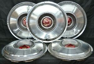 1965 Chrysler New Yorker Newport 300 Hubcaps Set Of 5 Wheel Cover Oem