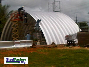 Q51x36x17 Steel Factory Mfg Metal Quonset Hut Arched Curved Building Cover Diy