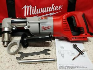 Milwaukee 0721 20 m28 28v Lith ion 1 2 Right Angle Drill driver tool Only used