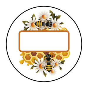 Honey Bee Honeycomb Jar Bottle Lid Labels Stickers Tags Personalized