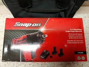 Snap on ct761ak2 microlit ion 14 4 volt Impact Wrench Kit 3 8 drive 2 2 5ah new