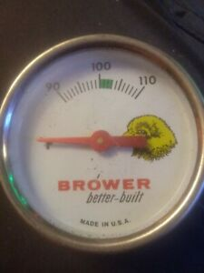 Vintage Brower Better built Hatchery Chick Egg Incubator Thermometer