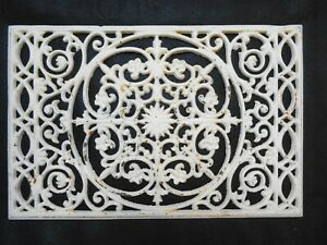 Antique Vintage Cast Iron Grate Register Architectural Garden Wall Decor 11 X 17