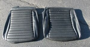 1970 Mustang Mach 1 New Deluxe Black Front Seat Bottom Upholstery Sections