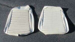 1970 Mustang Mach 1 New Exact Deluxe White Front Seat Bottom Upholstery Sections