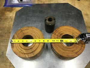 Wood Pulleys 2 For Old Hit And Miss Engine Use