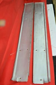 1961 Ford Galaxie Starliner Door Sill Scuff Plates Plate Carpet Cover Orig Pair