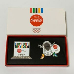 2020 Tokyo Olympics ✖ Coca cola Pin badge Fencing ver Japan Limited