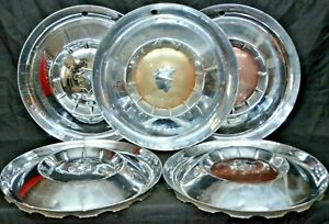 1954 1955 Mercury Monterey Sun Valley Hubcaps Marquis Colony Park Oem Set Of 5