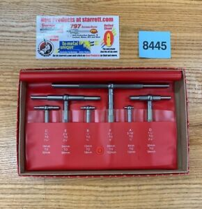 6 Pc Starrett Telescoping Gage Set S579hz 5 16 6 W Case