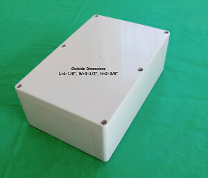 Project Box Electronic Enclosure L 6 1 8 W 3 1 2 H 2 3 8 Plastic