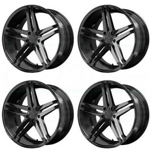 19x8 5 19x9 5 Verde V39 Parallax 5x114 3 32 38 Gloss Black Wheels Rims Set 4