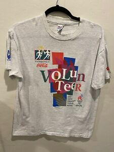 Vintage Coca-Cola 1996 Olympic Torch Relay Volunteer T-Shirt X-Large