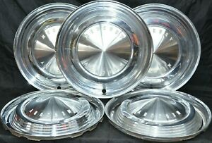 1962 1963 Mercury Meteor Comet Monterey Hubcaps Wheel Cover Colony Park Set Of 5