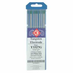 Ck T3327g Pure Tungsten Electrode 3 32 X 7 10 Pack