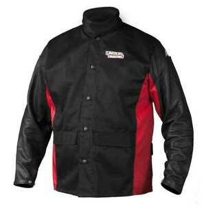 Lincoln Electric K2987 Shadow Grain Leather Sleeve Welding Jacket X large