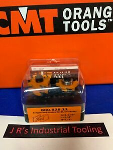Cmt Tools 800 626 11 2 piece Tongue Groove Set 1 2 inch Shank