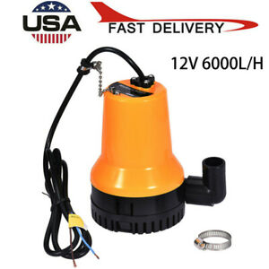 12v Submersible Water Pump Tackle 1620gph 6000l h Clear Dirty Pool Pond Flood Us