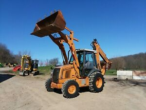 Clean And Original Case Super L 4x4 Backhoe With Extendahoe And Cab