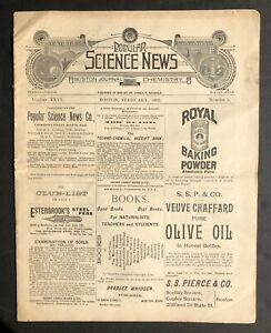 1892 Popular Science News Boston Journal Of Chemistry Ads China Photography