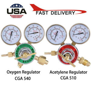 Acetylene Oxygen Gas Welding Regulator Pressure Gauge Fit Victor Solid Brass Kit