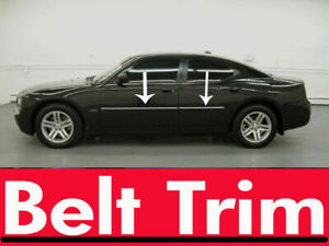 For Dodge Charger Chrome Body Side Molding Trim Kit 2006 2007 2008 2009 2010
