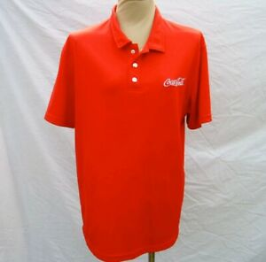 Coca-Cola Polo Shirt Red Mens XXL with Metal Snaps and Embroidered Logo