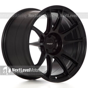 Circuit Cp32 18 9 18 10 5 5 114 3 Flat Black Wheels Staggered Fits Nissan 350z