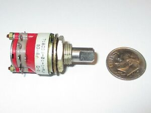 Grayhill Rotary Switch 71bd36 01 1 ajn 1 Pole 10 Positions 3 4 Od Refurb
