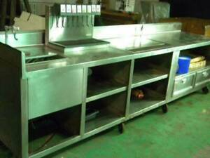 Stainless Steel Table Work Station 11ft beautiful Heavy Duty Excellent