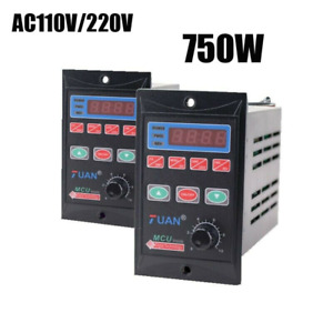 1 0 99hz 750w Single Phase Frequency Converter 1hp Vfd 3 Phase Output 110 220v