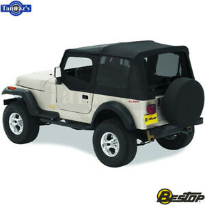 1988 1995 Jeep Wrangler Replace A Top Fabric Only Soft Top Spice