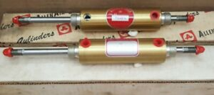 Lot Of 2 Nos Allenair Pneumatic Cylinder Double Ended 1 1 8 Bore 2 1 2 Stroke
