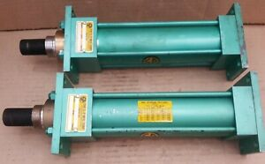 Two Nos S p Manufacturing Hydraulic Cylinder 1 Rod 2 Bore 6 Stroke 925psi A3e