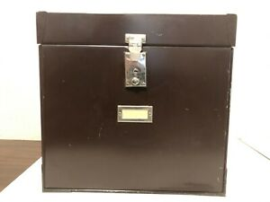 Vintage Mystrong Lock Box File Safe Security Chest Industrial With Both Keys