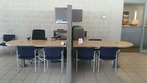 3 Herman Miller Desk Partition System Office Furniture 2 Workstations In One