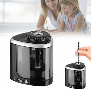 Electric Pencil Sharpener Battery Operated Automatic Touch Pencils Sharpening