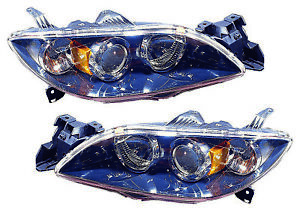 For 2004 2005 2006 Mazda 3 Sedan Headlights Pair Set
