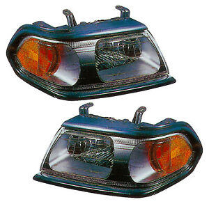 For 2000 2001 2002 2003 2004 Mitsubishi Montero Sport Headlights Pair Set
