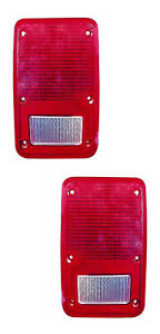 For 1978 1993 Dodge Plymouth Ram Van Tail Lights Pair Set